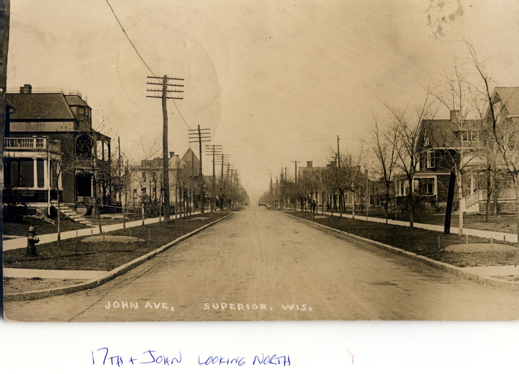 17th and John Ave. Looking North