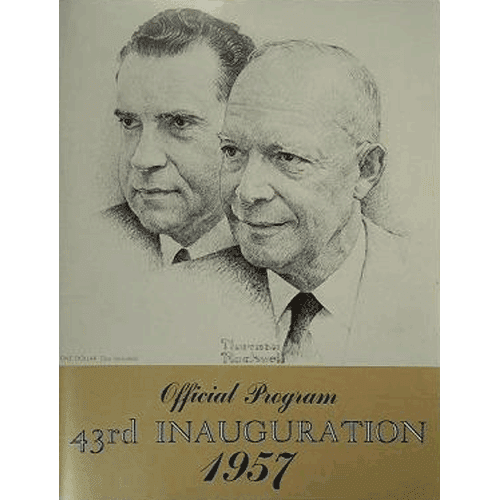 Official Program 43rd Presidential Inauguration 1957 – Dwight Eisenhower & Richard Nixon | Douglas County Historical Society