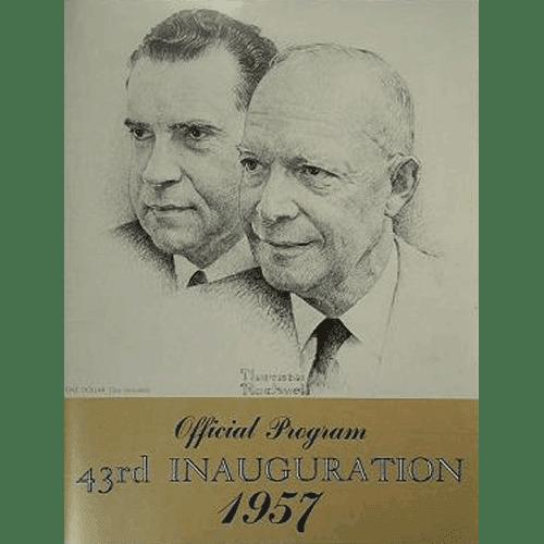 Official Program 43rd Presidential Inauguration 1957 – Dwight Eisenhower & Richard Nixon | Douglas County Historical Society