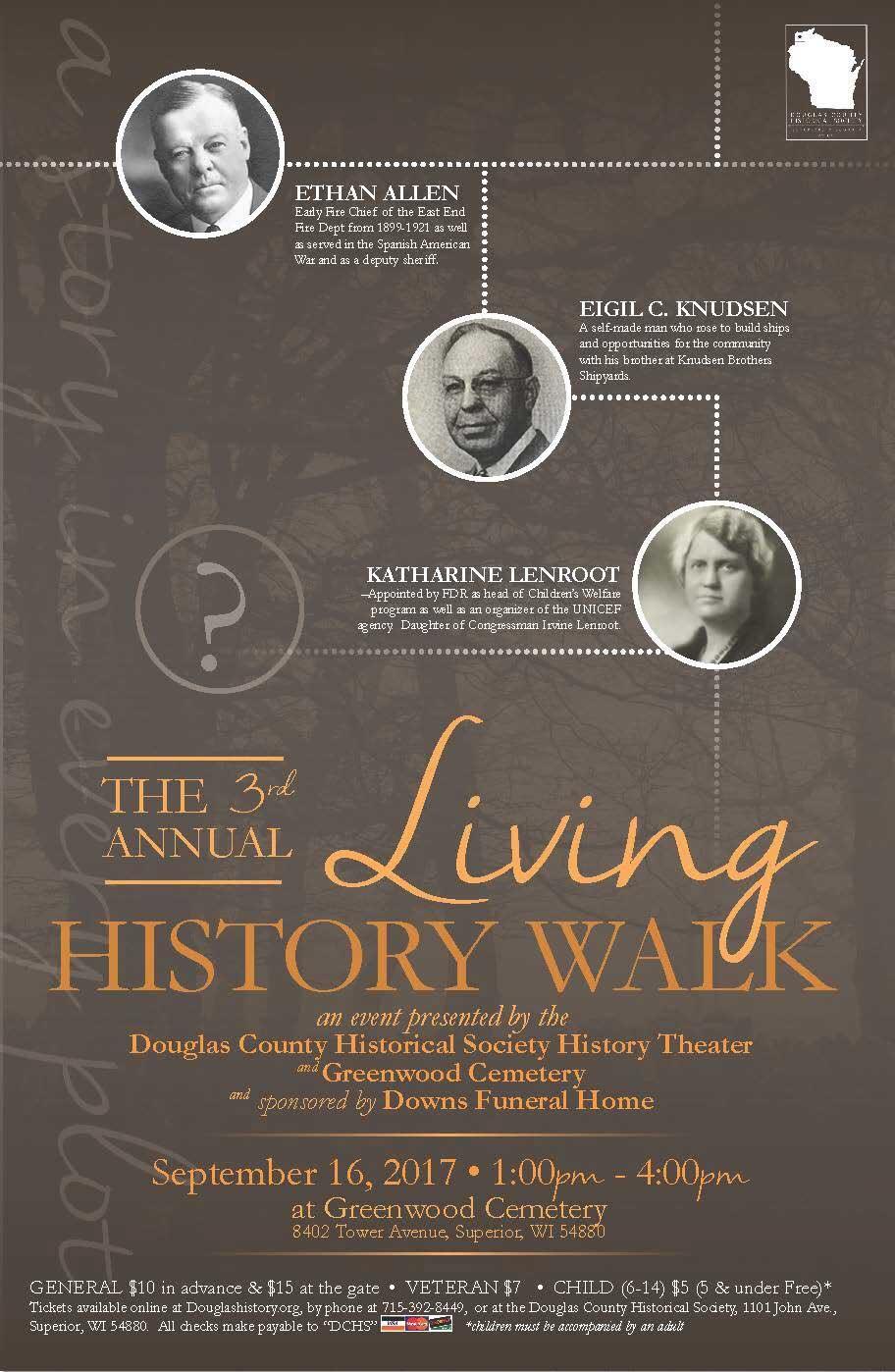 Living History Walk 2017   Douglas County Historical Society